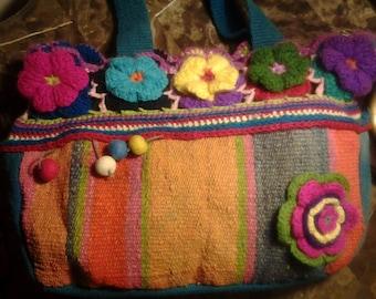 textile andean handbag