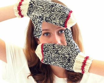 Knitca Sock Monkey Mitten Kit (Classic color)