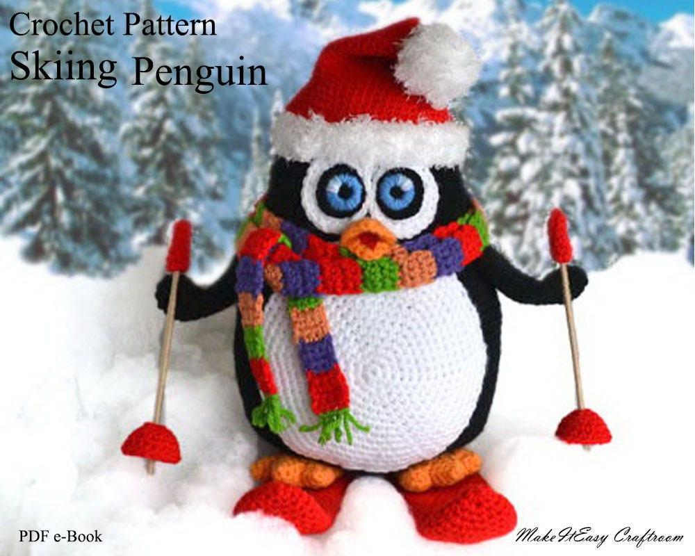 Large penguin crochet pattern Crochet penguin pattern