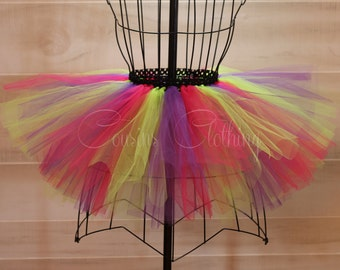 Running Tutu - Race Tutu - Adult Tutu - Neon Run - Color Run Tutu - Marathon Tutu - 5K Tutu - Pink, Purple, Green Tutu - Fun Run Tutu