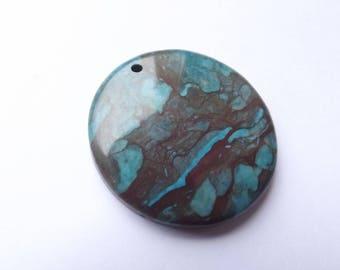 Jasper tinted ALPHA 604 disk pendant