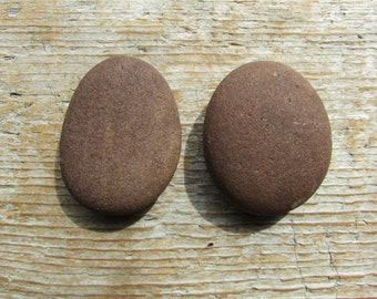 Natural Stone Cabinet Knobs BROWN Natural Beach Stone Cabinet Knobs