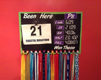 Runners Medal, Race Number hanger with Changeable Pbs