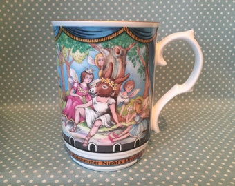 Vintage Sadler pottery mug depicting William Shakespeare's A Midsummer Night's Dream. - FREE UK POST -