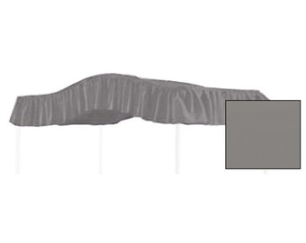 FULL SIZE Solid Charcoal Gray Canopy Bed Fabric Top