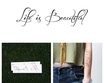 Magnificent - Temporary Tattoo (Set of 2)