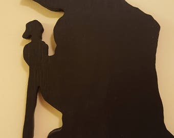 Yoda Silhouette Wall Art Handmade