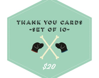 Whimsical Thank You Cards // 10 Pack Special // Greeting Card, Thank You Card, Whimsical Card