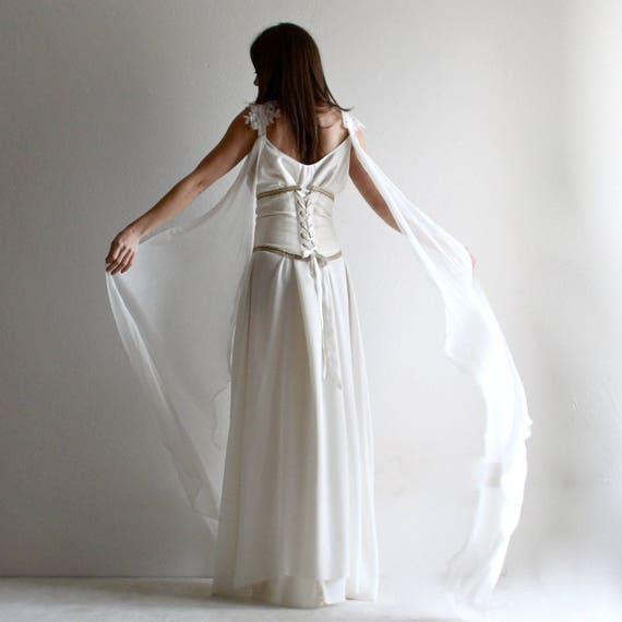 Brautkleid mittelalterliche Hochzeit Korsett Hochzeitskleid
