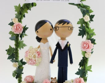 custom wedding cake topper - standard arch
