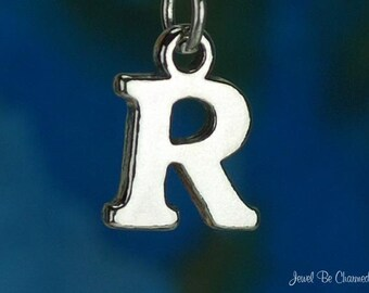 Sterling Silver Capital Letter R Charm Initial Alphabet Solid .925