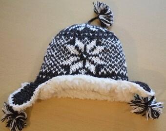 Hand Knit 100% Sheep Wool Hat