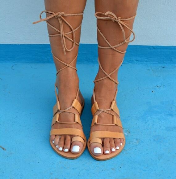 Sandales Compensées En Cuir Helene Anciens Sandales Grecques BjXoP
