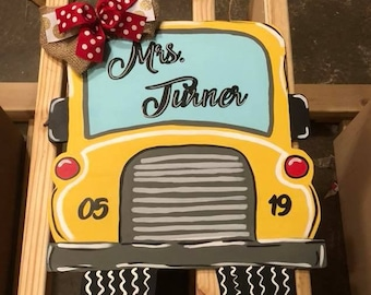School Bus Door Hanger - Bus Door Hanger - Bus Driver Door Hanger - School Door Hanger