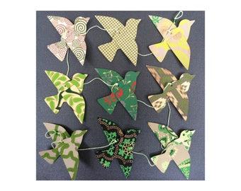 Paper Bird Garland - GREENS - Wedding Garland - Party Garland - Bird Garland - Wedding Decor - Home Decor - Party Decor - Nursery Decor