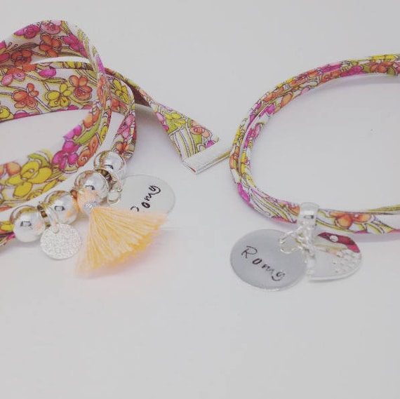 SET mother - Daughter/baby * 2 Bracelets Liberty (optional) matching with personalized engraving
