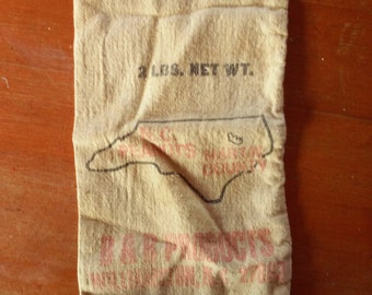 Vintage Peanut Sack from Martin County, North Carolina ~  Excellent condition