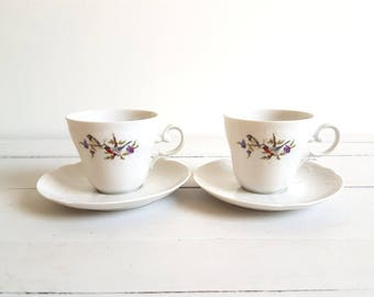 Old sweet tea cup 'birds and flowers'