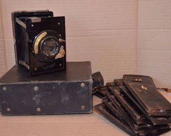 Vintage collectible Turist Russian folding photo camera Soviet 1935-1941