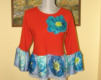 Cashmere Top - Sweater - Silk - Spring - One of a Kind - Hand made in US
