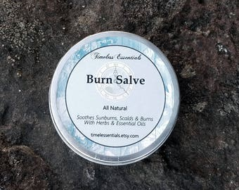 Burn Salve - For Sunburn, Scalds and Burns