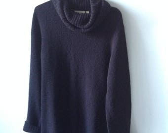 Vintage Black Slouch Sweater