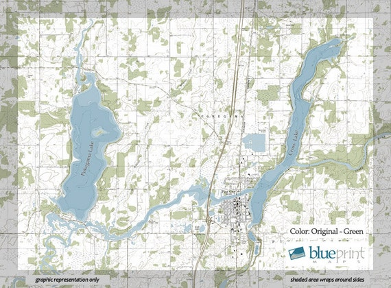 PokegamaCross Lake Canvas Lake Map - Pokegama lake map