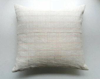 Vintage Hmong Pillow Cover - Modern Bohemian Decor - Neon Stripe Pillow by Habitation Boheme