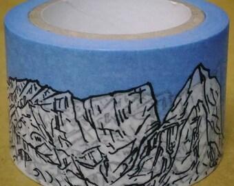 World Shan Shui : Earth Landscape Album - ㄚㄌ = Washi Masking Tape One Roll (30 mm)