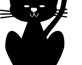 Kitty Cat ai  eps  jpg  png  and svg Clipart, Vinyl, Stencil - Cricut - Silhouette Cameo