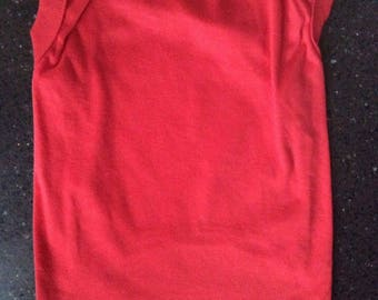 L cotton t-shirt Dog Red Make Your Own Pet Clothing
