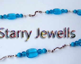 Stunning turquoise and tibetan silver necklace