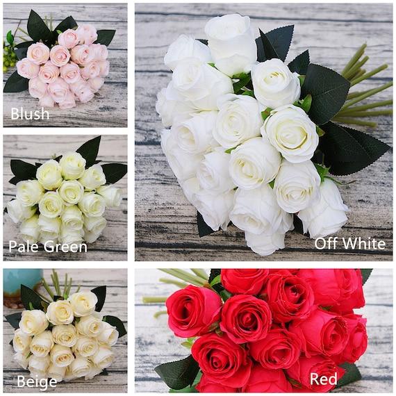 Silk Flower Bouquet For Bridal Bridesmaids Flowers Artificial