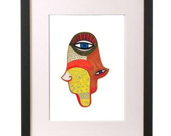 Hamsa Hand Decor,Hand of Miriam,Hamsa Hand Poster,Modern Judaica,Hand of Fatima,Healing Hand,Spiritual Art,Hamsa Artwork,Eye Art,Jewish Art