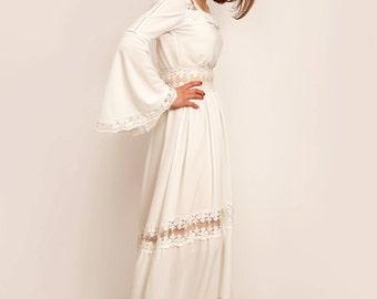 Rustic wedding dress, high low dress, boho wedding dress, backless wedding dress, unconventional wedding dress, alternative wedding dress