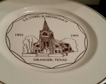 S.S. Cyril Methodius Plate
