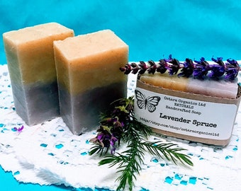 Lavender Spruce Soap, Lavender Soap Bar, Spruce Soap Bar, Essential Oil Soap, Natural Soap Bar, Organic Soap, Vegan Soap Bar, Artisan Soap
