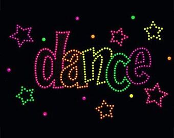 Adult Dance neon rhinestud tee a10932b