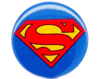 Superman ID Badge Reel - Retractable Badge Reel - Badges for Men - Superhero ID Badge Clip