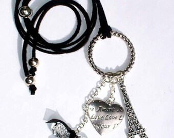 Kit necklace silver Paris and its instructions