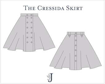 Cressida Skirt Ladies PDF Sewing Pattern Multi Size 6 to 20