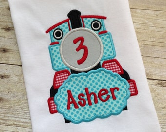 Train Birthday Shirt - Birthday shirt for boys - Train birthday outfit - Boys birthday bodysuit - Train birthday - cake smash outfit