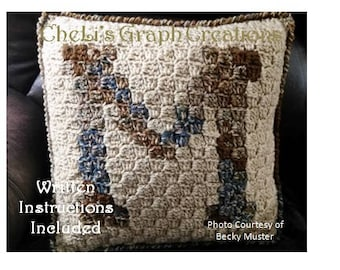 Monogrammed Pillow Letter M initials,names,alphabet,black,pattern,white,pillow,chart,crochet, DIY,gifts,charts,simple,personalized