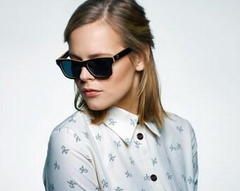 Black Maple Wayfarer Sunglasses, Handcrafted Polarized Wood Sunglasses, Black Wayfarer | Mens & Womens sunglasses