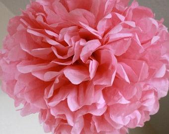 Tissue Paper Pom Pom - Dark Pink - Tea Party - Nursery Decoration - Pink Party Decor