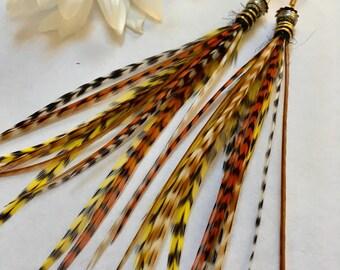 Lucky, Feather Tassel Earrings, Feather Earrings, Tassel Jewelry