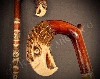 Eagle Cane Collectible Cane Wooden Cane Walking Cane Wooden Stick Walking Stick Handcrafted Handmade Cane Woodcarving Exclusive Cane