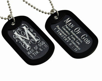 Man of God - Dog Tag Necklace