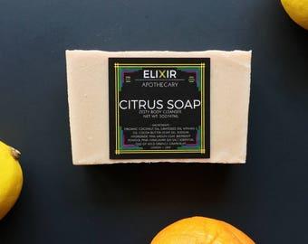Citrus Soap - Gift for Men - Gift for Women - Gift for Dad - Gift for Him - Gift for Her - Gift for Wife - Gift for Husband - Gift for Mom