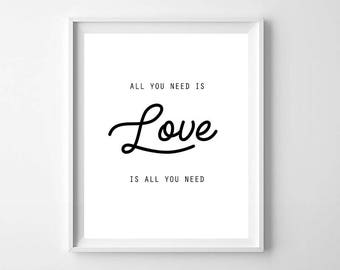 Love Printable, Love Print, Love Wall Art, Typography Print, Typography Poster, Love Poster, Typography Printable, Nursery Printable